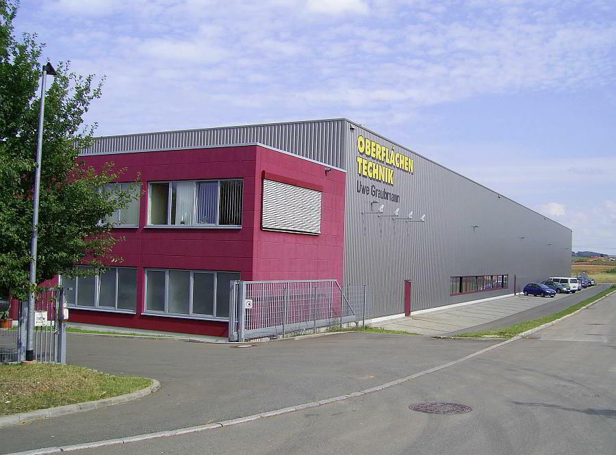 Hallenneubau der Firma Graubmann Oberflächentechnik