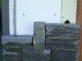 Frische Natursteinmauer